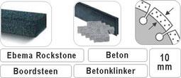 10mm laser gelast diagrid bloksegment voor ebama rockstone beton en gewapend beton