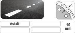 asfalt zaagblad voor benzine doorslijpers met een verdiept segment voor het tegengaan van undercutting