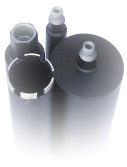 diamantboor / kernboor dunwandig diameter 76mm 400mm nuttige lengte aansluiting 5/4unc voor nat te boren in beton en gewapend beton