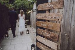 Pancarte en bois à personnaliser en palette