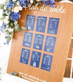 Panneau en bois plan de table à personnaliser