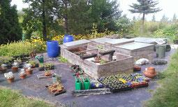 Rangs et travail de jardinier