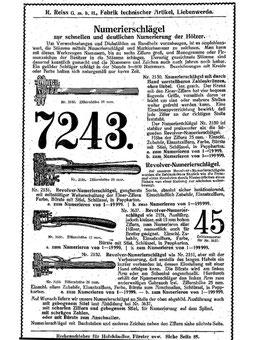 Katalog um 1900
