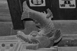 大法寺 日本最古の鯱(しゃちほこ)