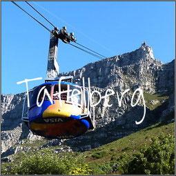 Als je geluk hebt en de Tafelberg is niet bedekt met een wolk heb je een prachtig uitzicht over Kaapstad.  De kabine van de kabelbaan draait rond.