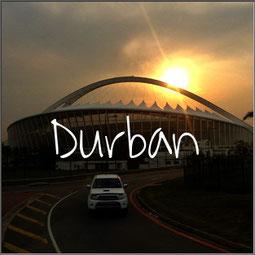 De grote stad Durban is misschien niet het aantrekkelijkst. Mooi uitzicht heb je vanaf het Moses Mabhida Stadion. Bezoek ook de indiaase markt e.o.