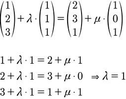 Ansatz zur Berechnung der Lagebeziehung von zwei Geraden im 3D Raum