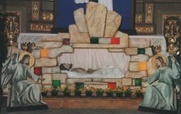Ausschnnitt des Hl. Grabes in der Loretkapelle Foto: Rußkäfer