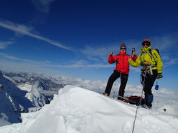 Catherine et Michel au sommet. Bravo!