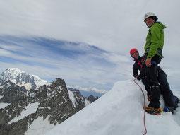Dolent summit et Mt-Blanc
