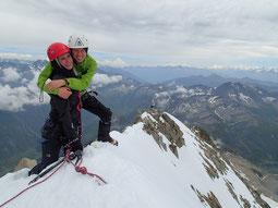 Alix et Renaud au sommet