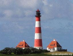 Kulturreise 2014 an die Nordsee und Ostsee, Foto vom Leuchtturm in Weste