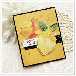 レモン 手作りカード