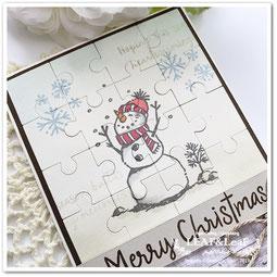 スタンピンアップで簡単手作りクリスマスカード