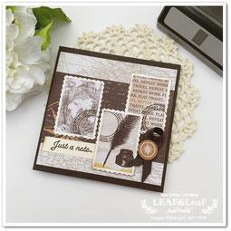 切手パンチ 手作りカード