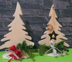 Zirbenbäumchen als Weihnachtsdekoration