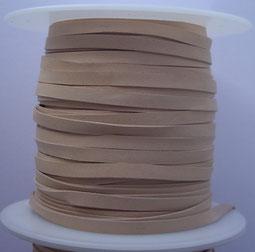Lacet plat de cuir végétal (kangourou) 3 et 5 mm