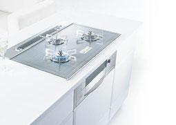 システムキッチンに取り込む形のコンロ。省略して「ビルコン」と呼ぶことが多い。ガスの有資格者でないと設置・交換ができません。