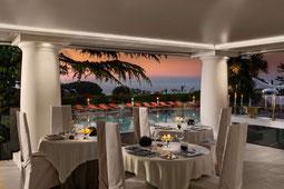 Capri Palace Restaurant mit Blick über den Pool