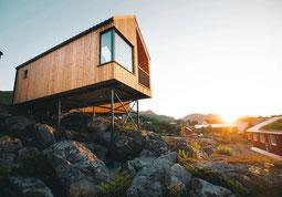 Hattvika Hillside Hütte auf dem Hügel