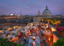 Blick über Rom von der Dachterrasse