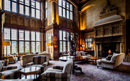 Bovey Castle Great Hall mit Kamin