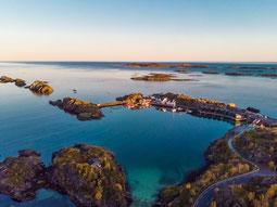 Hamn I Senja Resort von oben