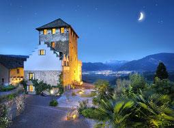 Schloss Korb bei Nacht