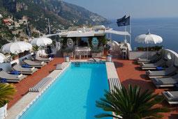 Pool mit Meerblick von der Villa Franca