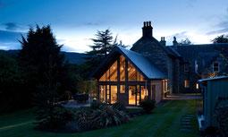 Craigatin House in Abendstimmung