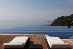 Blick von der Terrasse auf den Gardasee