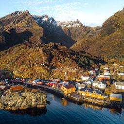 Nusfjord Arctic Resort von oben