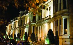 Hotel du Vin Glasgow Außenansicht in Abendstimmung