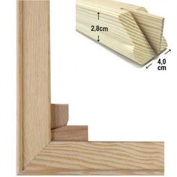 4 cm Holzkeilrahmen für Leinwanddruck im Wunschformat als Bausatz bestellen