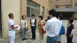重澤監督から青森遠征等のお話を伺う