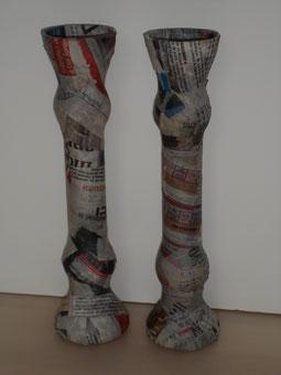 Soliflore en papier mâché