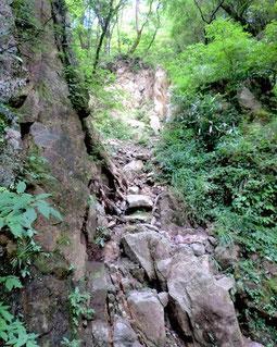 猫越峠〜つげ峠の断崖