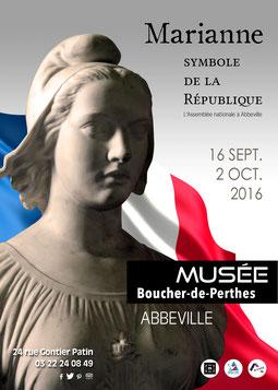Affiche de l'exposition / Crédit photographique : Abbeville, Musée Boucher-de-Perthes