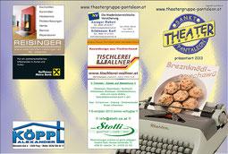 2013 Flyer Theatergruppe St. Pantaleon