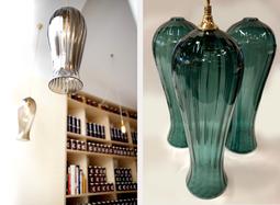 LANTERN Pendelleuchten Glas-Serie von Rothschild & Bickers, London