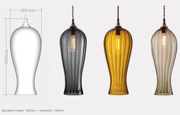 LANTERN Pendelleuchten Serie Glas von Rothschild & Bickers