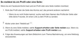 Facebook Fakeprofil Fakeaccount über Profilseite melden - Rechtsanwalt Sven Nelke