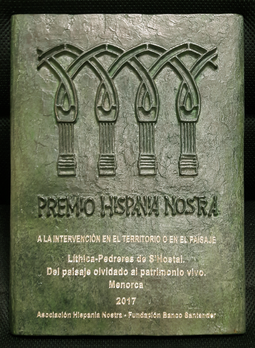 Premios Hispania Nostra. Placas de bronce