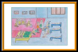 ผลงานการวาดภาพของเด็กปัญญาอ่อนที่ได้รับรางวัลที่ 1