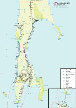 樺太鉄道路線図