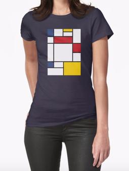 mondrian tshirt, art tshirt