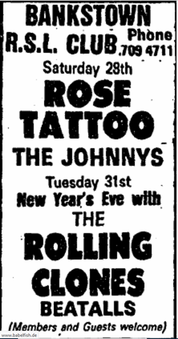 Sydney Morning Herald, Friday, December 27, 1985, AD)