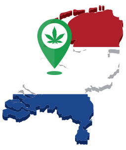 carte des coffee shops en hollande