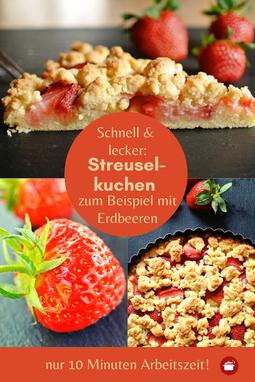 Streuselkuchen schnell zum Beispiel mit Erdbeeren  #erdbeeren #rhabarber  - auch für #thermomixrezept #streusel #streuselkuchen #backen