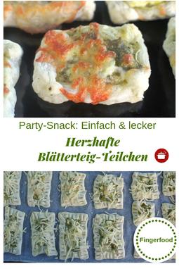 Partysnack aus #blätterteig #fingerfoodrezepte #fingerfood #partysnack